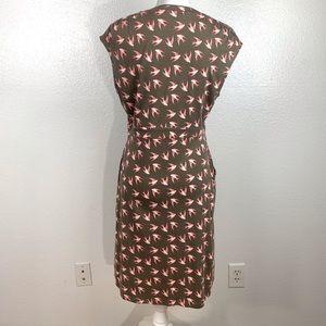 Boden Dresses - Boden Scoop Neck Swallow Print Dress